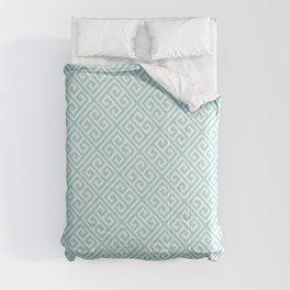 Tiffany Blue Greek Key Pattern Comforters