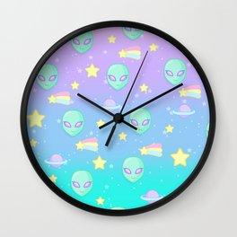 Fairy Kei Kawaii Aliens Wall Clock