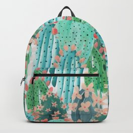 Colorful watercolor cacti Backpack