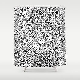 Abstract Life Forms Shower Curtain