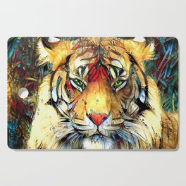 Fantazi (Tiger is Not Amused II) Cutting Board