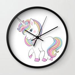 Cute unicorn.Cooler than a unicorn T-shirt  Wall Clock