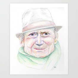 Elderly Man Art Print