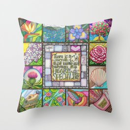 My Patchwork Friendship Squares Throw Pillow