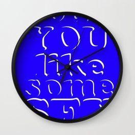 would you like some sex Wall Clock