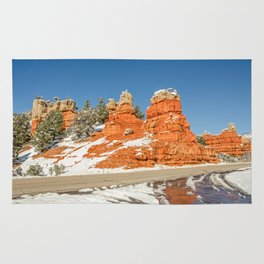 Entrance to Red Canyon, Utah, on Scenic Byway 12 Rug