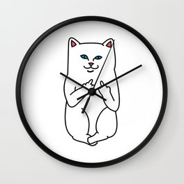 Nasty Cat Wall Clock