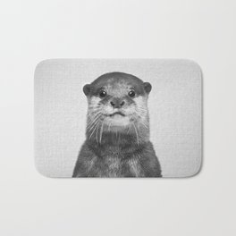 Otter - Black & White Bath Mat