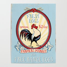 Roosters crow Poster
