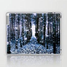 Magical Forest Dark Blue Elegance Laptop & iPad Skin
