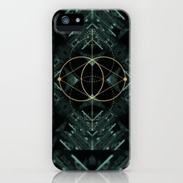 Gold Geometry machines iPhone Case
