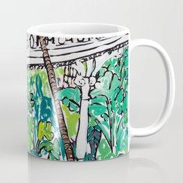 Kew Gardens Jungle Botanical Painting Greenhouse Coffee Mug