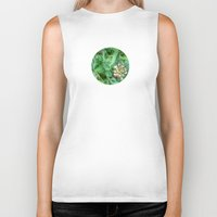 clover Biker Tanks featuring Clover Patch by Geni