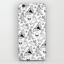 Cryptid Pattern: Ink Lines iPhone Skin