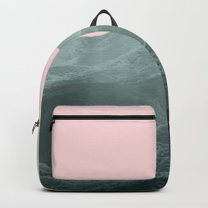 Mountains Pink + Green Backpack