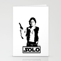 han solo Stationery Cards featuring Han Solo by Mister Munny