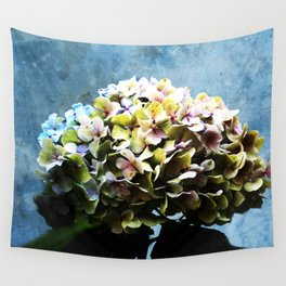 Shabby-chic Hydrangea Flower Wall Tapestry