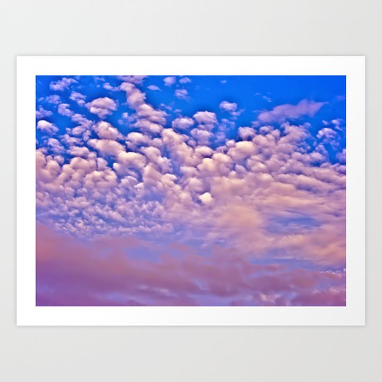 Strawberry Skies Art Print