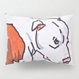 Pretty Pittie Dog Portrait Pillow Sham