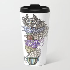 Owlice Wants Another Cup of Tea Metal Travel Mug