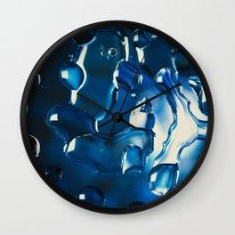Blue water bubbles Wall Clock