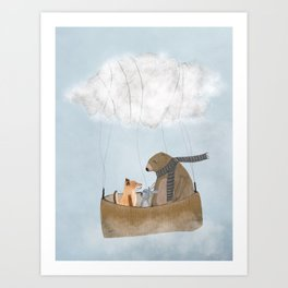 the cloud balloon Art Print