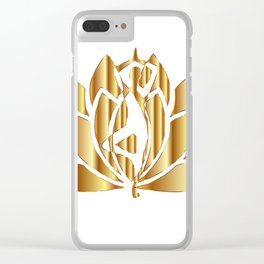 Golden Lotus Clear iPhone Case