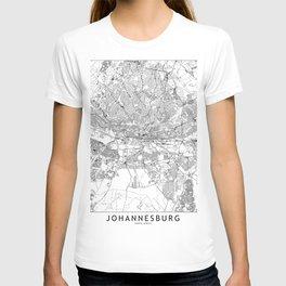 Johannesburg White Map T-shirt