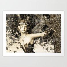 Spring Fairy in Fantasy Garden Art Print