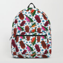 Beautiful Australian Native Florals - Grevillea and Beehive Ginger Backpack