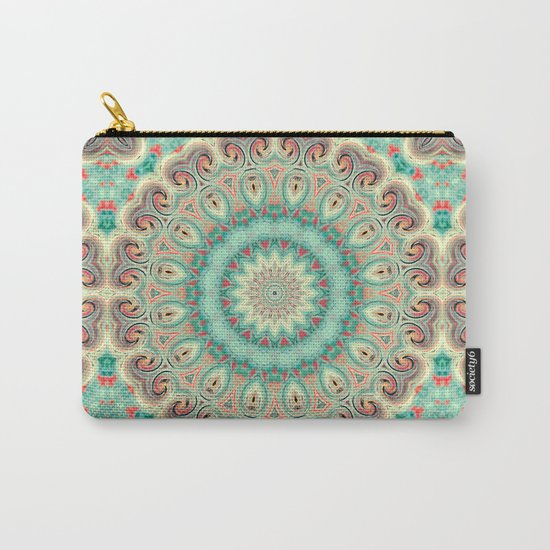 Kaleidoscope . Turquoise. Carry-All Pouch