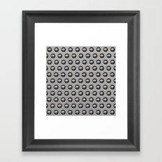 Metallic Drops Framed Art Print