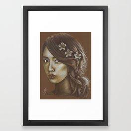 Sepia Yoona Framed Art Print