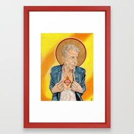 St. Anthony Bourdain Framed Art Print