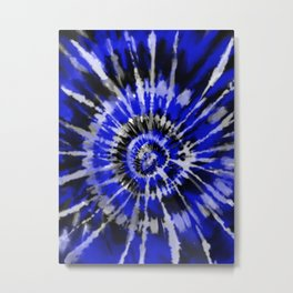 Dark Blue Tie Dye Metal Print