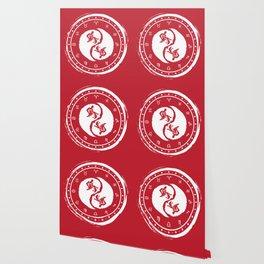 Aquarius Yin Yang Eleventh Zodiac Sign Wallpaper