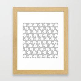 Elephant Parade on Grey Framed Art Print