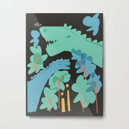 Jurrasic Metal Print