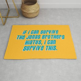 If I Can Survive The Jonas Brothers Hiatus, I Can Survive This Rug