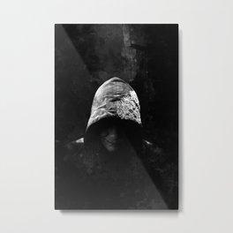 Victorian Assassin Hood - B&W Metal Print