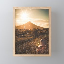 Sunrise on the ring of fire - travel photography & landscapes Framed Mini Art Print