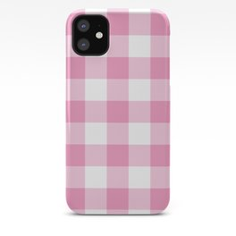 Light Pink Gingham Pattern iPhone Case
