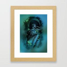 astronaut and the last star Framed Art Print