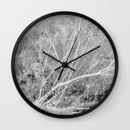 Incandescence bw inv Wall Clock