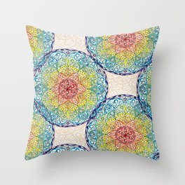 Mandala peace Throw Pillow