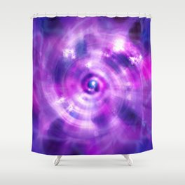 Ultraviolet Sahasrara (Pantone Colour of the Year 2018) Shower Curtain