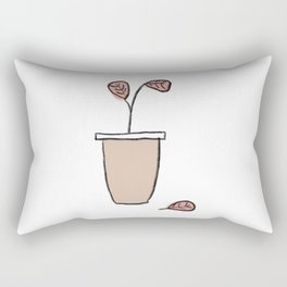 Bloom: Blush Fiddle Leaf Rectangular Pillow