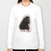 thorin Long Sleeve T-shirts featuring Mixed Media - Thorin by LindaMarieAnson