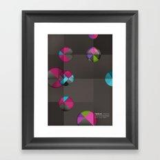 optical illusion black Framed Art Print