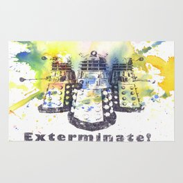 Daleks From Doctor Who Rug